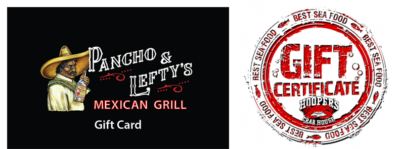 Pancho & Lefty's & Hooper's Gift Cards